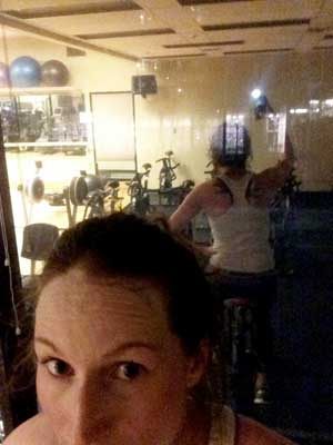 Liz is spending most nights alone at her work gym.