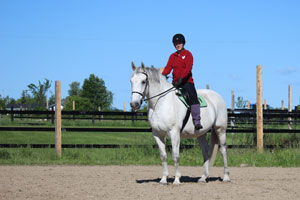 I struggle to get my stirrups back after purposely dropping them.