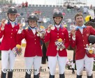 The Canadian Eventing Team claimed the team bronze medal at the TORONTO 2015 Pan American Games.  From left to right: Kathryn Robinson, Jessica Phoenix, Colleen Loach and Waylon Roberts.                         Photo © Cealy Tetley - www.tetleyphoto.com