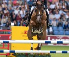 French rider Penelope Leprevost galloped to victory with Flora de Mariposa in the first Team and Individual qualifier at the FEI European Jumping Championships 2015 in Aachen, Germany.  (FEI/Dirk Caremans)