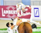 The reigning world champions from Germany, Team RSV Neuss-Grimlinghausen, clinched European squad gold at the FEI European Vaulting Championships 2015 in Aachen (GER). Photo by FEI/Daniel Kaiser