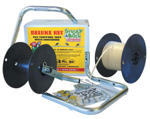 Sticky Rolls are a safe and effective system that can be easy to install for use in horse stables to capture flies.