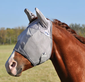 Fly Masks and Ear Bonnets can help to keep pesky flies off your horses face and away from their ears.