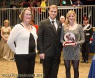 Dressage Canada Chair, Sarah Bradley, presented Brittany Fraser and Marc-Andre Beaulieu with the 2015 Dressage Canada Owner of the Year Award on behalf of Craig Fraser during a special presentation on Nov. 12 at the Royal Horse Show in Toronto, ON. Photo by Cealy Tetley