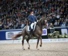 The Netherlands' Hans Peter Minderhoud and Glock's Flirt won the fourth leg of the Reem Acra FEI World Cup™ Dressage 2015/2016 Western European League at Stockholm, Sweden. Photo by FEI/Roland Thunholm