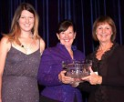 Carlene and Caitlin Ziegler accepted the 2015 Jump Canada Owner of the Year Award from Jump Canada Chair Pamela Law on Nov. 8, 2015 at the Jump Canada Hall of Fame Gala in Toronto, ON. Photo by Michelle C. Dunn
