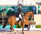 Leah Wilson Wilkins of Orangeville, ON kicked off the prestigious CDI-W Adequan Global Dressage Festival by earning her highest scores to date at the CDI level aboard Fabian J.S. Photo by Susan J. Stickle