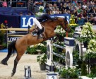 French rider, Penelope Leprevost, steered Vagabond de la Pomme to victory in the opening competition at the Longines FEI World Cup™ Jumping 2016 Final in Gothenburg, Sweden. Photo by FEI/Dirk Caremans