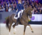 Hans Peter Minderhoud steered Glock's Flirt to a stylish victory at the ninth and last qualifying leg of the Reem Acra FEI World Cup™ Dressage 2015/2016 Western European League on home ground at 's-Hertogenbosch, The Netherlands. Photo by FEI/Arnd Bronkhorst