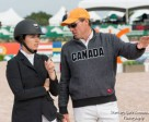 Chris Sorensen goes over the course with student, Quincy Hayes, an up-and-coming jumper rider who recently helped Canada take second place against a total of 17 teams in the Artisan Farms Under 25 Team Event, held Feb. 5, 2016 at the prestigious Winter Equestrian Festival (WEF) in Wellington, FL. Photo by Starting Gate Communications