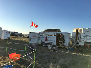 The Canadian camp at the Coyote Ridge Run Endurance Ride.