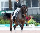 Ashley Holzer closed out the 2016 Adequan Global Dressage Festival in Wellington, FL on a high note, winning the FEI Grand Prix Freestyle on April 2 after earning an impressive score of 75.600% aboard her 2012 London Olympics partner, Breaking Dawn. Photo by Susan J. Stickle