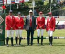The Canadian Show Jumping Team tied with the United States to take second place in the $1,500,000 MXN CSIO 4* Coapexpan Furusiyya FEI Nations' Cup™, held April 29, 2016 during the CSIO 4* Coapexpan in Veracruz, MEX. (L to R: Yann Candele, Elizabeth Gingras, Mark Laskin, Tiffany Foster, Eric Lamaze). Photo by Anwar Esquivel