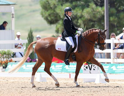 Vanessa Creech-Terauds (16, Caistor Centre, ON) and Fleur de Lis L were awarded the silver medal for their score of 70.184%