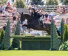 Stephanie Dubois-Emond and Castello won the $10,000 Canadian Hunter Derby, presented by Topline Trailers, on Sunday, July 17, at the Ottawa National Horse Show at Wesley Clover Parks. Photo by Ben Radvanyi Photography