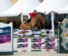 Mariann Hugyecz and Chacco Boy jumped double-clear to help Team Hungary to victory in today's thrilling Furusiyya FEI Nations Cup™ Jumping 2016 Europe Division 2 leg on home ground in Budapest. (FEI/Krisztina Hajdu)