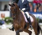 The fabulous mare, Fiontini, who was 5-year-old champion in 2015, returned to claim the 6-year-old title at the Longines FEI/WBFSH World Breeding Championships for Young Horses 2016 at Ermelo (NED). Photo by FEI/Arnd Bronkhorst