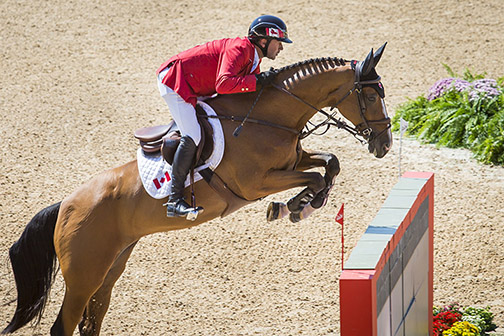 Eric Lamaze and Fine Lady 15 finished three rounds of competition at the top of the leaderboard.