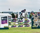 Robert Bevis and Courtney Z clinched victory for Great Britain at the seventh and last qualifier of the Furusiyya FEI Nations Cup™ Jumping 2016 Europe Division 2 series at Gijón (ESP). Photo by FEI/Xurde Margarid