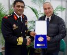 L-R, CISM President, Colonel AbdulHakeem AlShino (BRN) and FEI President Ingmar de Vos at the signing of the memorandum of Understanding, at the Olympic Equestrian Centre in Deodoro, Rio de Janiero (Martin Angerbauer/FEI)