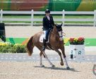 Roberta Sheffield of Lincolnshire, GBR rode Double Agent to a 10th place finish in the Grade III Team Test in her Paralympic debut in Rio on Sept. 11.