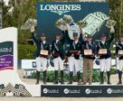 Team Brazil's Rodrigo Pessoa, Stephan de Freitas Barcha, Yuri Mansur and Pedro Veniss, led by Chef d'Equipe Caio Carvalho, won the Longines Challenge Cup to bring the Furusiyya FEI Nations Cup™ Jumping Final 2016 to a close at the Real Club de Polo in Barcelona (ESP). Photo by Dirk Caremans/FEI