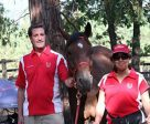 Dr. Yvette Vinton (right) will be representing Canada at the 2016 Longines FEI World Endurance Championships, taking place Sept. 16-18 in Samorin, SVK. Dr. Glenn Sinclair (left) will travel with Vinton, taking on the roles of team vet, groom and Chef d'Équipe. Photo courtesy of Equestrian Canada