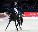 Germany's Isabell Werth produced a personal-best Freestyle score to win today's second leg of the FEI World Cup™ Dressage 2016/2017 Western European League riding Weihegold at Lyon, France. Photo by Pierre Costabadie/FEI
