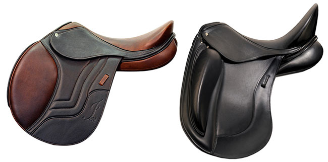 A jumping saddle will generally have a flatter seat to allow the rider more freedom of movement as she changes position over jumps. A dressage saddle will usually have many more options regarding seat size and design features to allow the individual a better opportunity to achieve the proper balanced position.