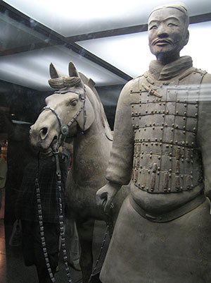 Horse and soldier. Wikipedia image