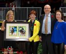 Robyn Eames and Mark Trussell were presented with the 2016 Dressage Owner of the Year Award during a special presentation on Nov. 10 at the Royal Horse Show in Toronto, ON. L to R: Victoria Andrew, Christine Peters, Mark Trussell, Belinda Trussell. Photo by Cealy Tetley