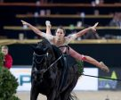 World No. 1, Germany's Kristina Boe, got her FEI World Cup™ Vaulting 2016/2017 campaign off to the perfect start with victory at the fourth leg of the series in Mechelen, Belgium. (Dirk Caremans/FEI)