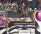 Colombia's Carlos Lopez galloped to victory with Admara in the seventh leg of the Longines FEI World Cup™ Jumping 2016/2017 Western European League at La Coruña in Spain. Photo by Hervé Bonnaud/FEI