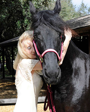 Claudia and her mare Amber.