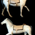 Hand carved and Painted Decorative Horse