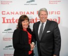 Spruce Meadows President Linda Southern-Heathcott and Canadian Pacific CEO Hunter Harrison announce the new $1.5 Million Canadian Pacific International.