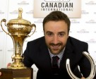 Post Position Draw Master Indy race car driver James Hinchcliffe holds the lucky horse shoe after assisting in making the draw for the $1,000,000 race at Woodbine Racetrack on Sunday. Photo by WEG/Michael Burns
