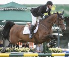 Eric Lamaze and Powerplay won the $85,000 ATB Financial Cup 1.55m at the Spruce Meadows National. Photo by Spruce Meadows Media Services