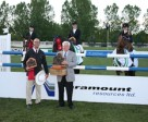"""The """"Vintorious"""" team with Chef d'Equipe Vinton Karrasch and Clay Riddell, Chief Executive Officer, Paramount Resources. Photo by Spruce Meadows Media Services"""