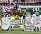 Kent Farrington and Voyeur won the $210,000 ATCO Power Queen Elizabeth II Cup at Spruce Meadows. Photo by Spruce Meadows Media Services