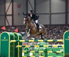 Eric Lamaze and Fine Lady 5 on their way to victory in the €300,000 Rolex Top Ten Final on Friday night, December 9, in Geneva, Switzerland. Photo by ROLEX/Kit Houghton