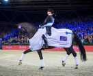 The world no. 1 partnership of Germany's Isabell Werth and the fabulous mare Weihegold secured their third win of the FEI World Cup™ Dressage 2016/2017 Western European League in Amsterdam (NED). Photo by Arnd Bronkhorst/FEI