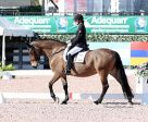 Canadian Paralympian, Robyn Andrews of St. John's, NF, started out her 2017 season with a hat trick in the Grade I division aboard Fancianna at the Adequan Global Dressage Festival (AGDF) CPEDI 3*, held Jan. 19-22 in Wellington, FL. Photo by Susan J. Stickle
