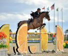 Richard Spooner and Cristallo on their way to a $25,000 SmartPak Grand Prix win. Photo by ESI Photography