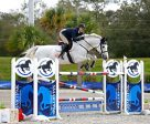 Tracy Fenney and MTM Reve Du Paradis on their way to a $25,000 SmartPak Grand Prix win. Photo by ESI Photography