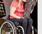 Lauren Barwick and Onyx share a sweet moment at the Rio Paralympics.
