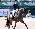 Adrienne Lyle and Horizon won the FEI Intermediaire 1 Freestyle CDI 3* at the Adequan® Global Dressage Festival. Photo by Susan J Stickle