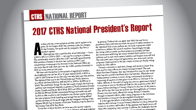 Thumbnail for 2017 CTHS National President's Report