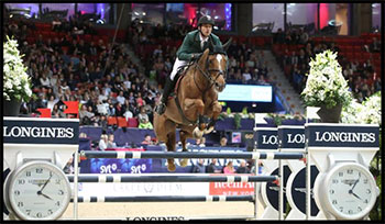 Reigning World Cup champion Steve Guerdat and Albfuehren's Paille. Photo by FEI - Roland Thunholm