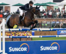 HH Carlos Z carried McLain Ward to victory in the Suncor Cup at the Spruce Meadows Masters. Photo by Spruce Meadows Media Services